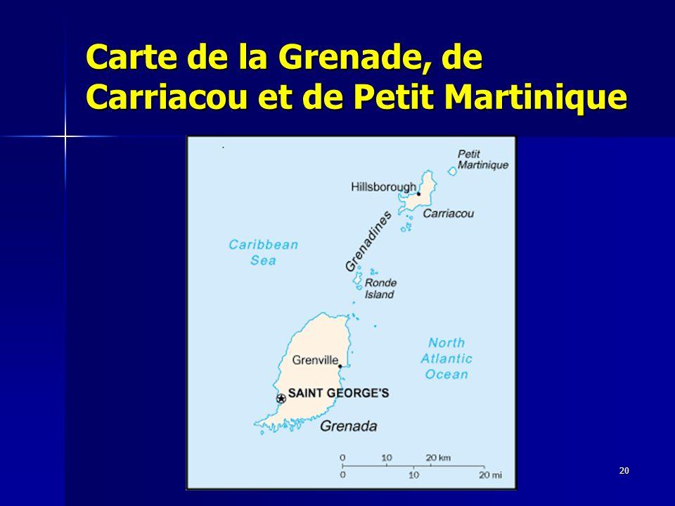 20 Carte de la Grenade, de Carriacou et de Petit Martinique