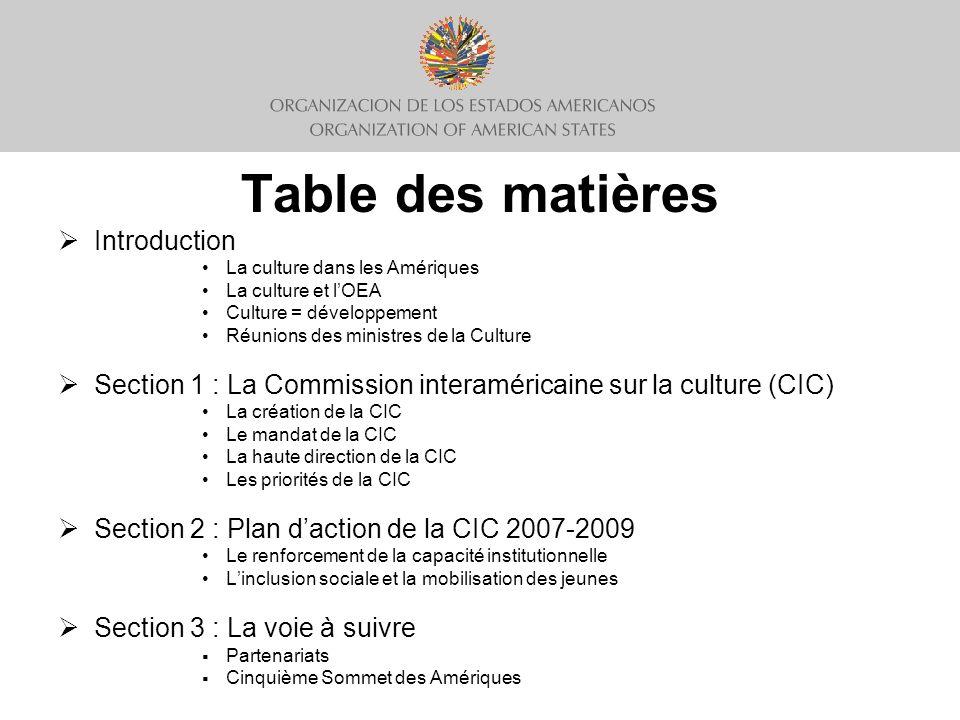 Plan daction de la CIC 2007-2009