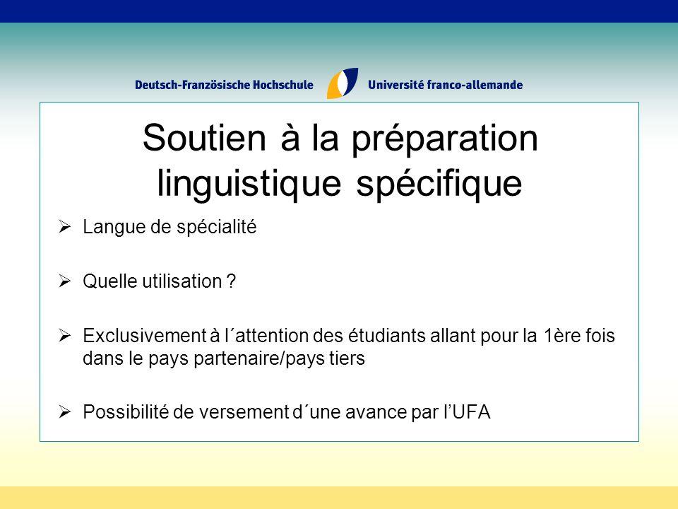 Soutien à la préparation linguistique spécifique Langue de spécialité Quelle utilisation .