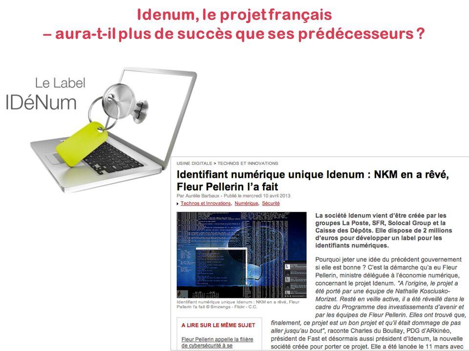 Idenum, le projet français – aura-t-il plus de succès que ses prédécesseurs