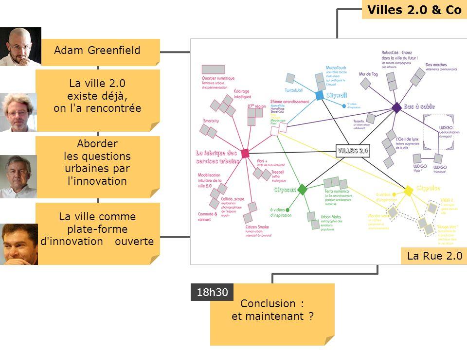 Villes 2.0 & Co La ville 2.0 existe déjà, on l a rencontrée Aborder les questions urbaines par l innovation La ville comme plate-forme d innovation ouverte Conclusion : et maintenant .