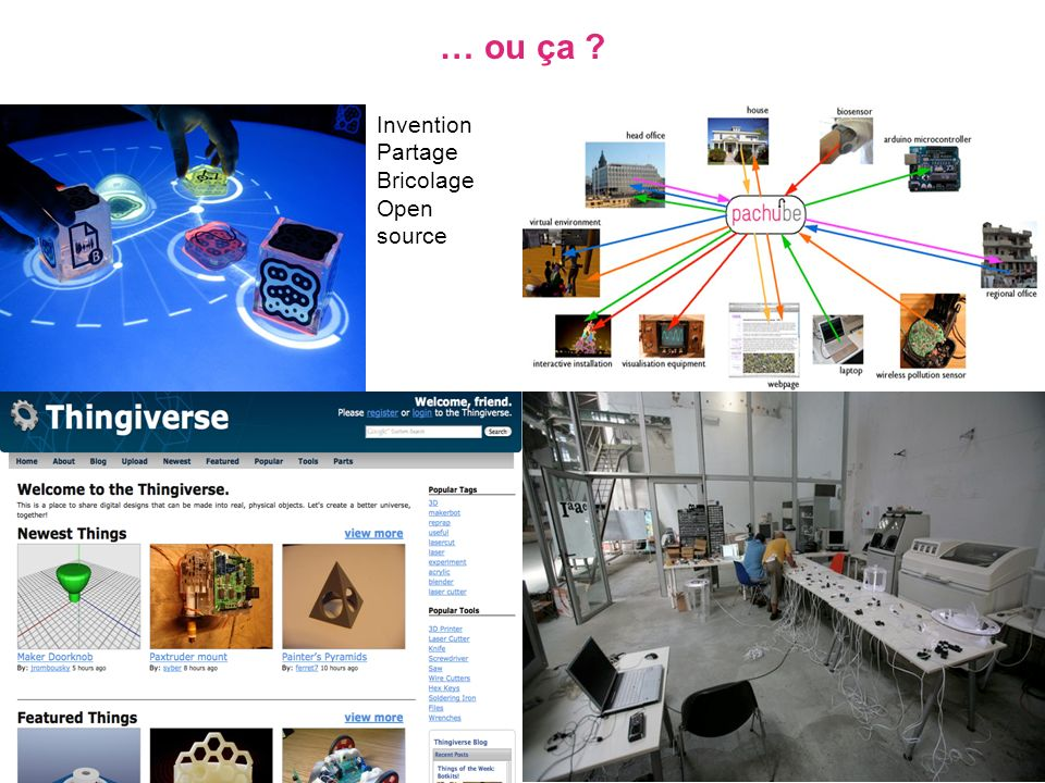 … ou ça ? Invention Partage Bricolage Open source