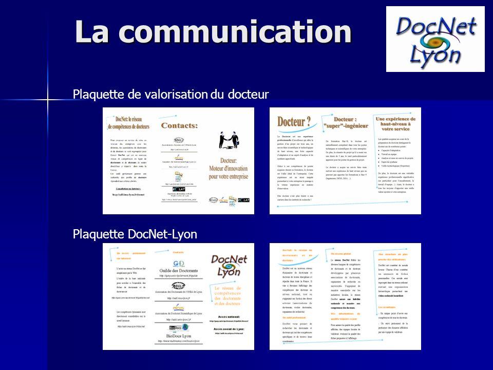 Plaquette DocNet-Lyon Plaquette de valorisation du docteur La communication