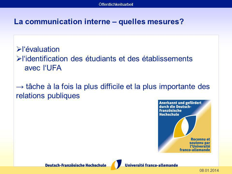 La communication interne – quelles mesures.
