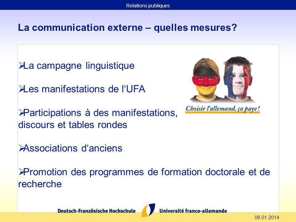 08.01.2014 La communication externe – quelles mesures.