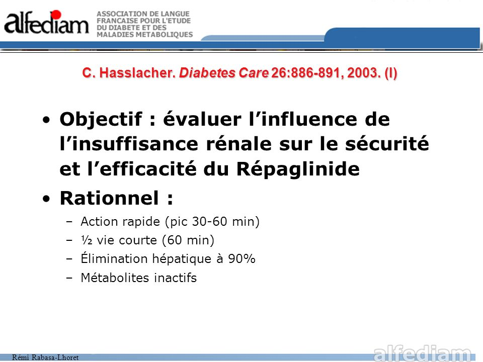 Rémi Rabasa-Lhoret C. Hasslacher. Diabetes Care 26:886-891, 2003.