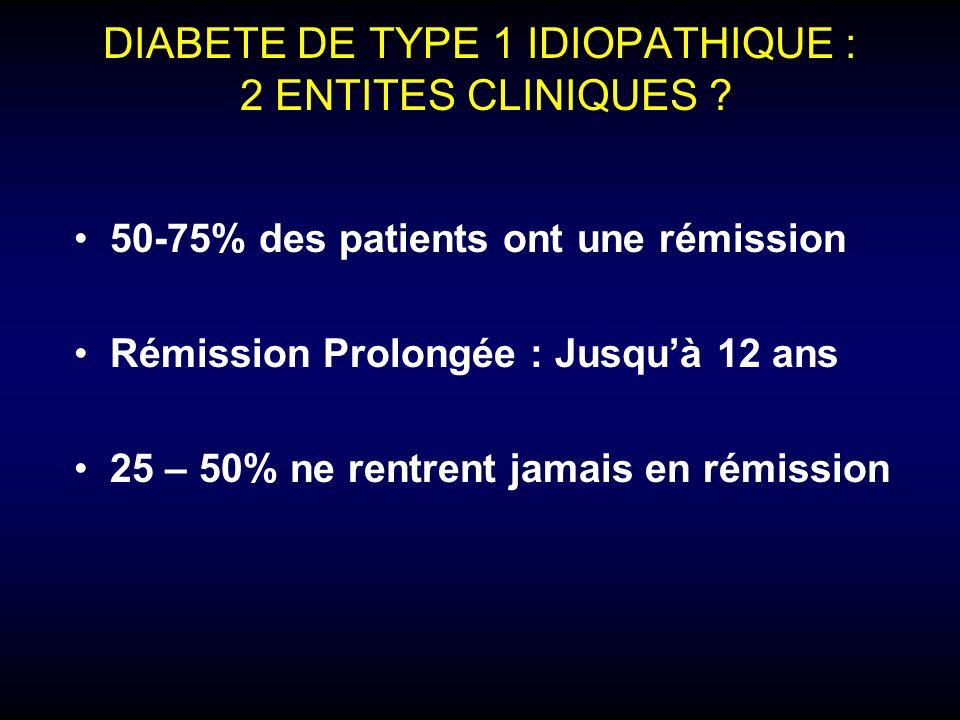DIABETE TROPICAL Définition - Glycémie > 11.1 mmol/l - Age de début < 30 ans - BMI < 19 (18) kg/m² - Absence de cétose à larrêt de linsuline - Besoins en insuline > 1.5UI/kg/jour - ATCD de malnutrition - calcifications pancréatiques ALBERTI KGMM in Diabetes in Africa, 1997© J-F.