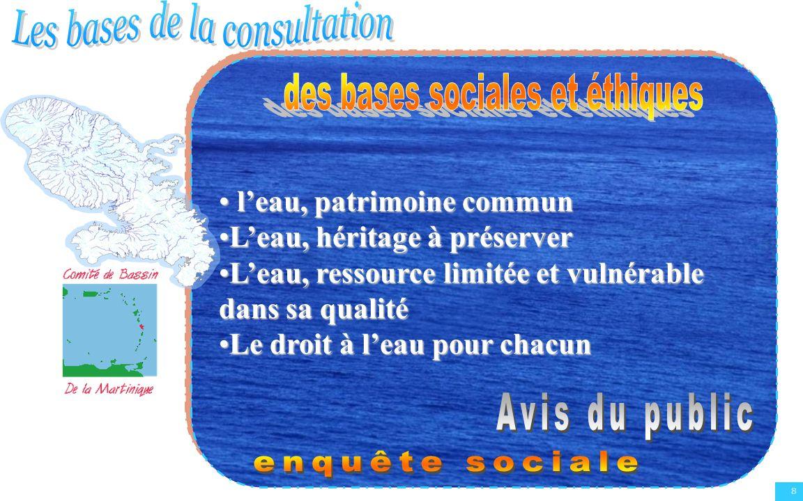 9 Le Déroulement de la consultation Plénière du Comité de Bassin du 24 juin 2005 : Examen et validation des questions importantes définies à partir de la synthèse de lEtat des lieux 2004 et du SDAGE 2002.