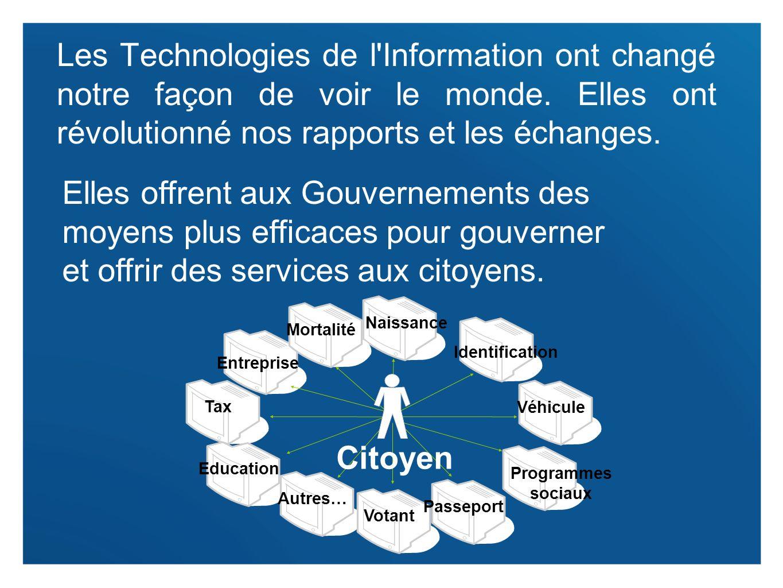 2 Les Technologies de l'Information ont changé notre façon de voir le monde. Elles ont révolutionné nos rapports et les échanges. Elles offrent aux Go