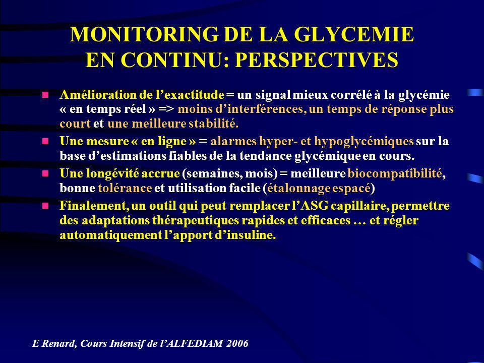 Amélioration de lexactitude = un signal mieux corrélé à la glycémie « en temps réel » => moins dinterférences, un temps de réponse plus court et une m