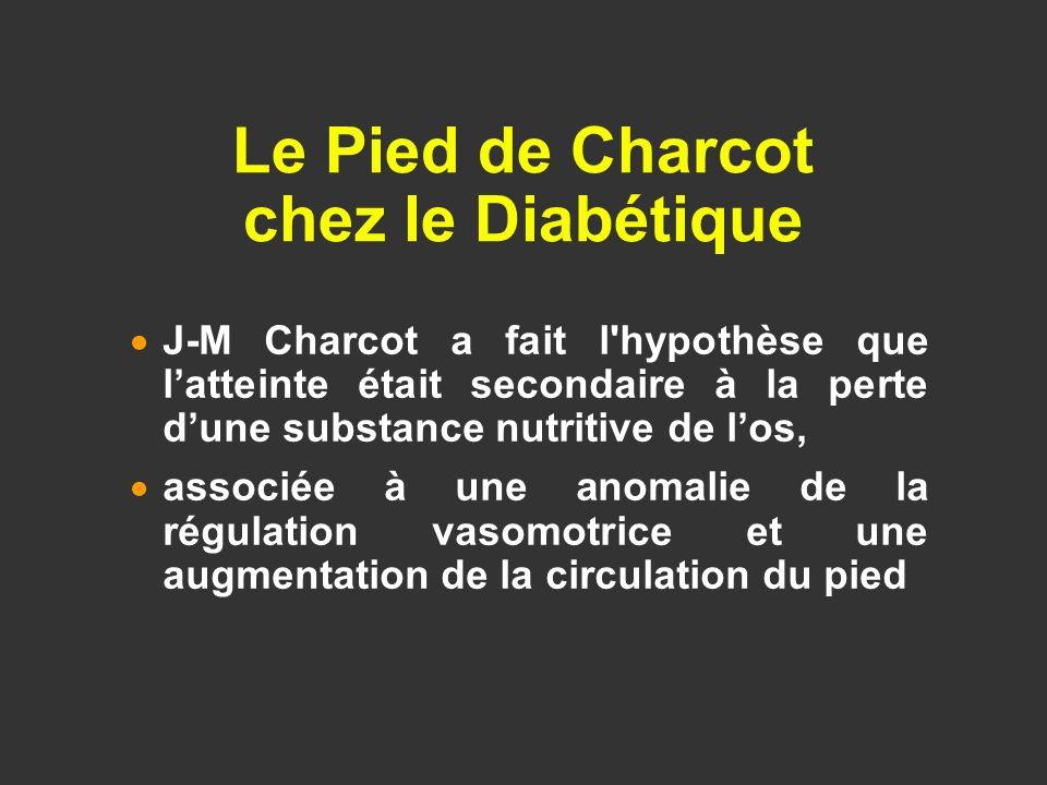 J-M Charcot a fait l'hypothèse que latteinte était secondaire à la perte dune substance nutritive de los, associée à une anomalie de la régulation vas