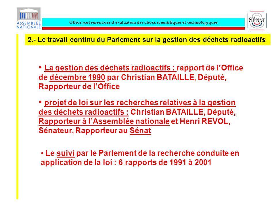 Office parlementaire dévaluation des choix scientifiques et technologiques Le suivi par le Parlement de la recherche conduite en application de la loi