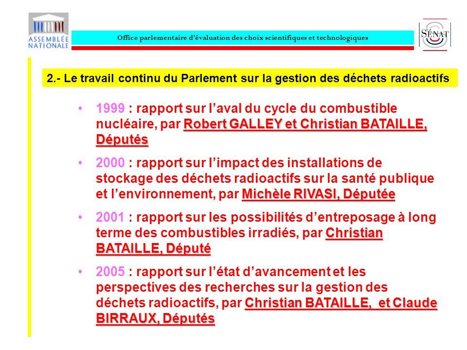 Office parlementaire dévaluation des choix scientifiques et technologiques Robert GALLEY et Christian BATAILLE, Députés1999 : rapport sur laval du cyc