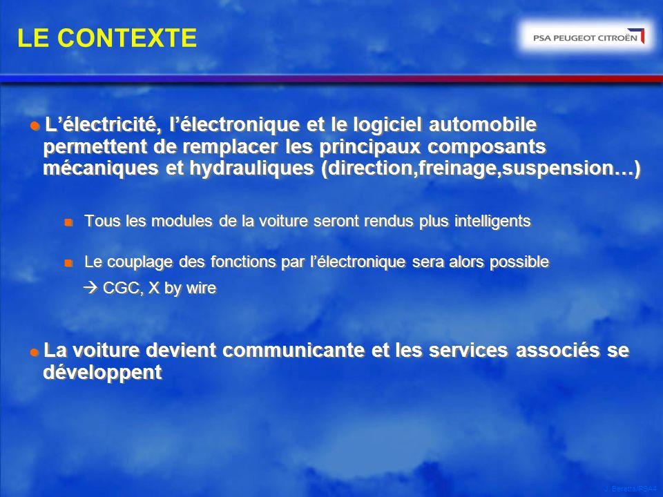 J. Beretta/PSA4 l Lélectricité, lélectronique et le logiciel automobile permettent de remplacer les principaux composants mécaniques et hydrauliques (