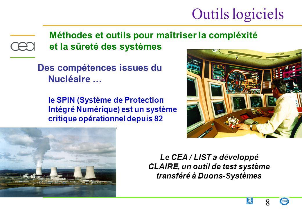 8 Des compétences issues du Nucléaire … le SPIN (Système de Protection Intégré Numérique) est un système critique opérationnel depuis 82 Le CEA / LIST