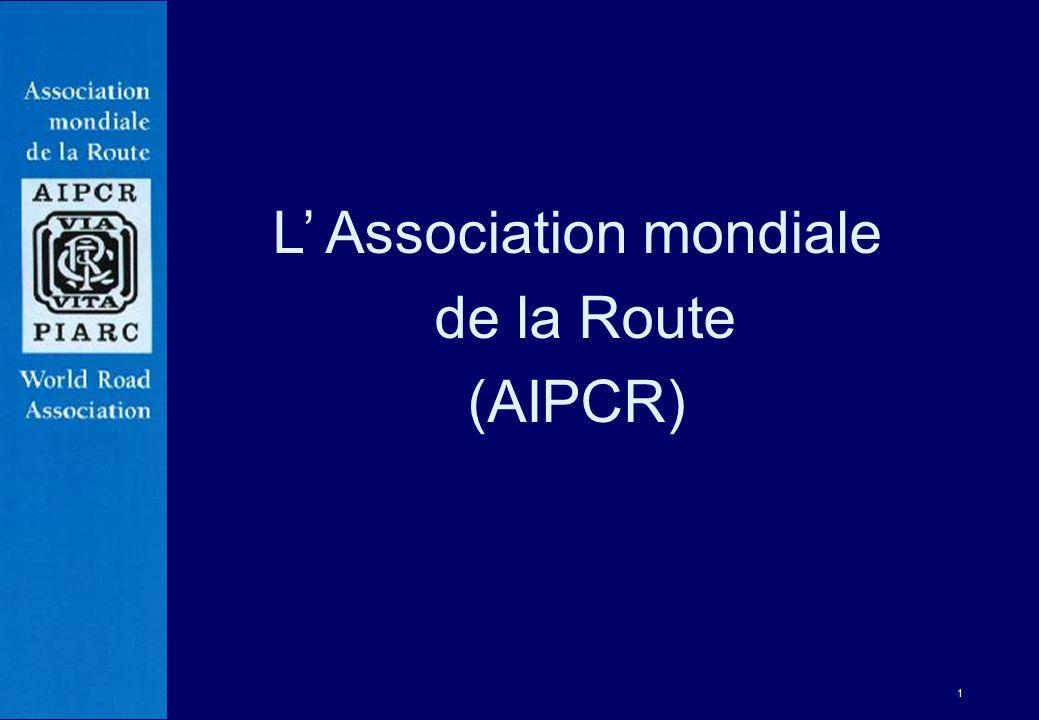 22 Brussels 1987 Marrakech 1991 Montreal 1995 Kuala Lumpur 1999 Paris 17-21 septembre 2007 Congrès mondiaux de la route Durban 19-25 octobre 2003