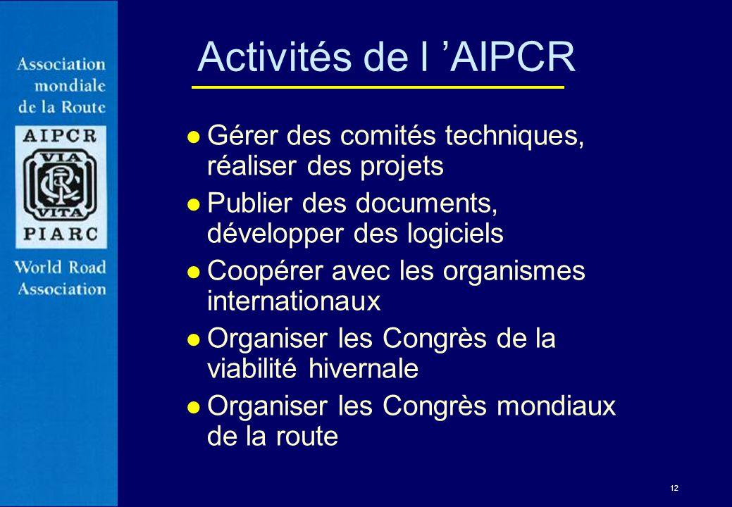 12 l Gérer des comités techniques, réaliser des projets l Publier des documents, développer des logiciels l Coopérer avec les organismes internationau