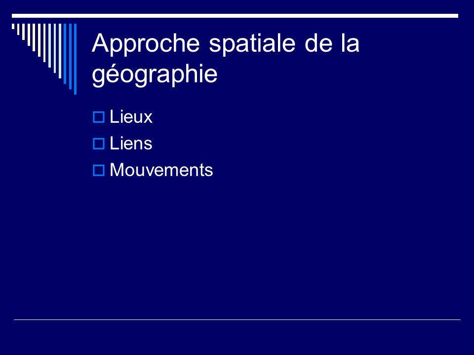 Espace géographique Ensemble de lieux et de relations qui sétablissent entre ces lieux