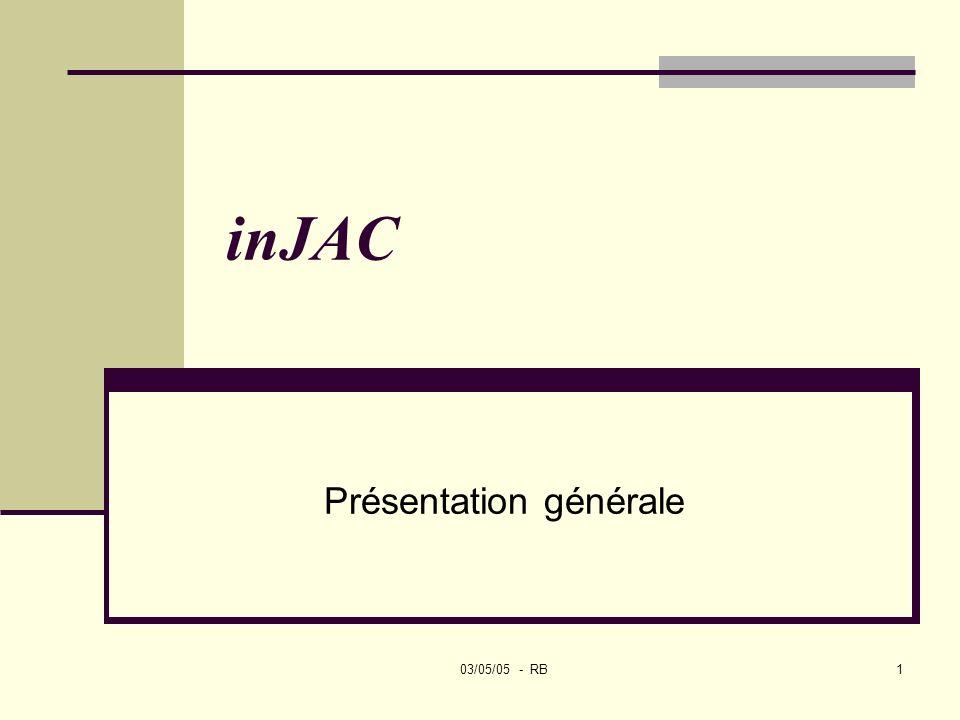 03/05/05 - RB1 inJAC Présentation générale