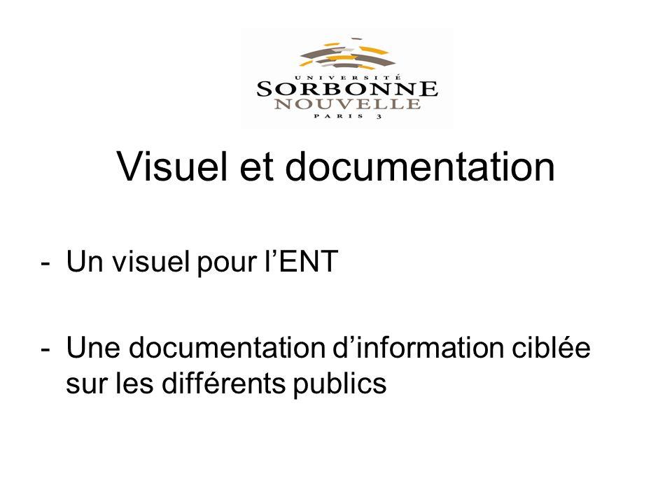 Visuel et documentation -Un visuel pour lENT -Une documentation dinformation ciblée sur les différents publics