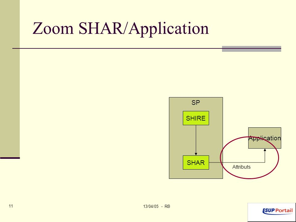 13/04/05 - RB 11 Zoom SHAR/Application SP SHIRE SHAR Application Attributs