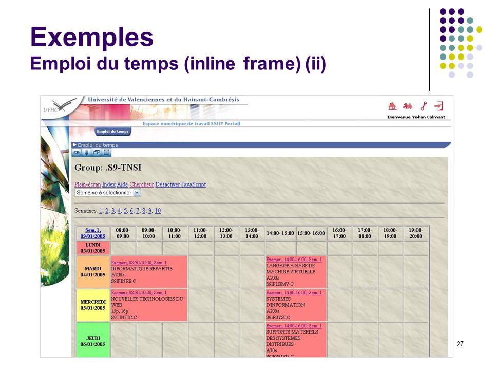 Journées rencontres du CSIESR 200527 Exemples Emploi du temps (inline frame) (ii)