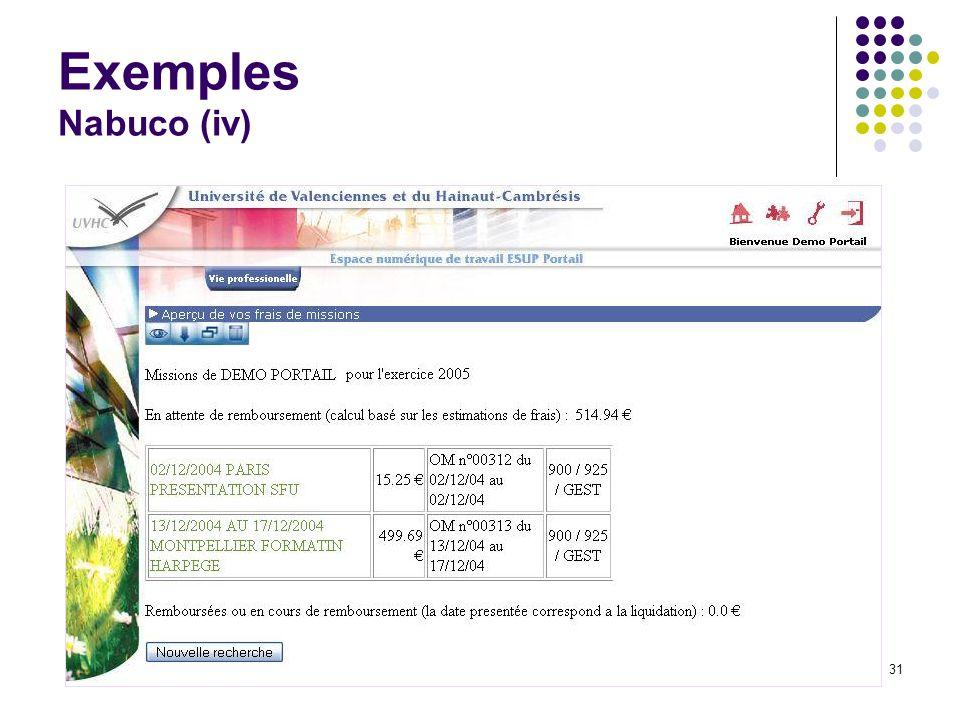 Journées rencontres du CSIESR 200531 Exemples Nabuco (iv)