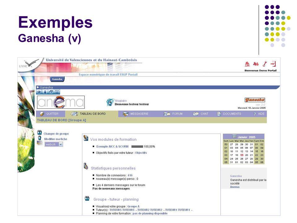 Journées rencontres du CSIESR 200536 Exemples Ganesha (v)
