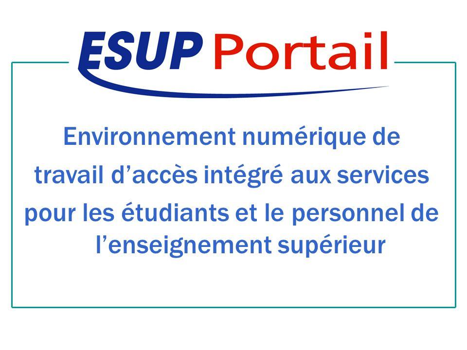 Environnement numérique de travail daccès intégré aux services pour les étudiants et le personnel de lenseignement supérieur