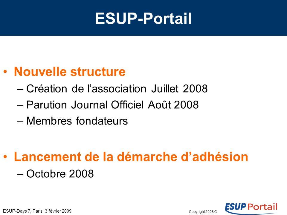 Copyright 2008 © ESUP-Days 7, Paris, 3 février 2009 Membres actuels E.H.E.S.S.
