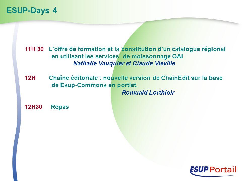 11H 30 Loffre de formation et la constitution dun catalogue régional en utilisant les services de moissonnage OAI Nathalie Vauquier et Claude Vieville