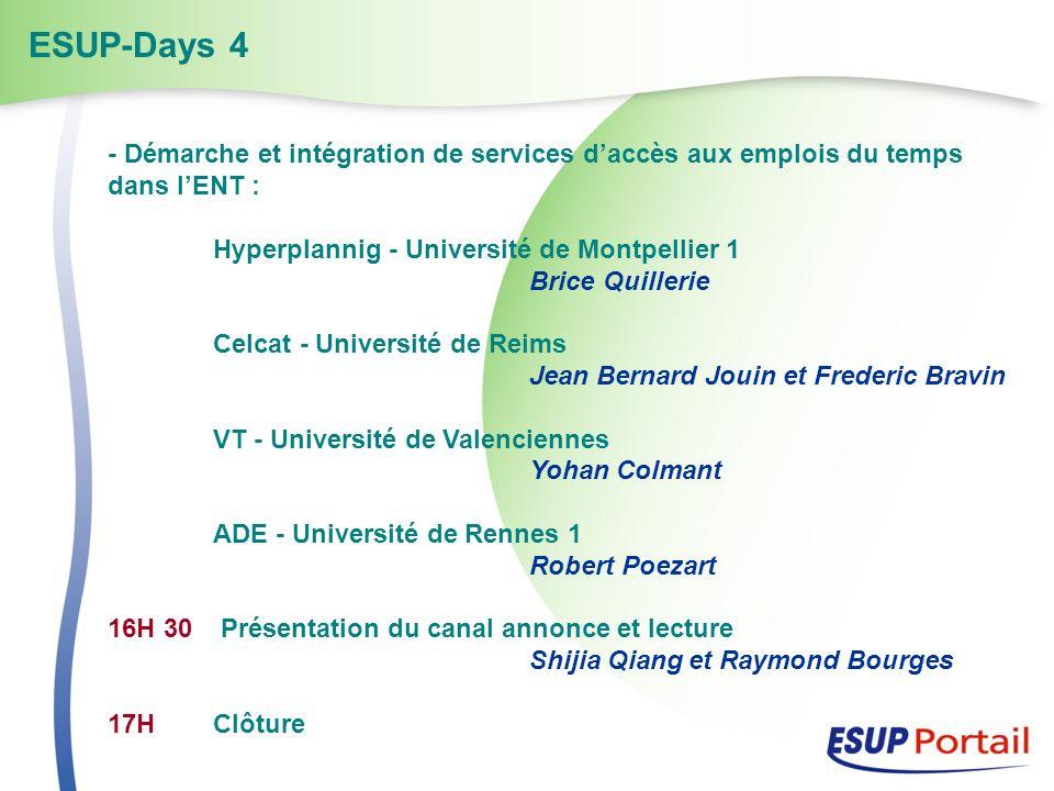 - Démarche et intégration de services daccès aux emplois du temps dans lENT : Hyperplannig - Université de Montpellier 1 Brice Quillerie Celcat - Univ