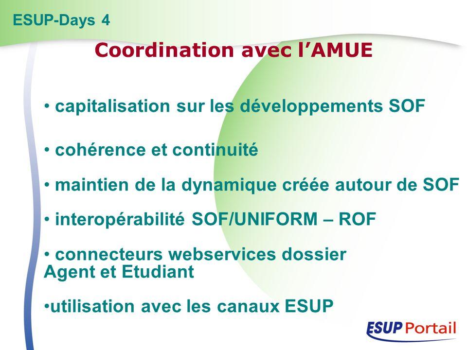 capitalisation sur les développements SOF cohérence et continuité maintien de la dynamique créée autour de SOF interopérabilité SOF/UNIFORM – ROF conn