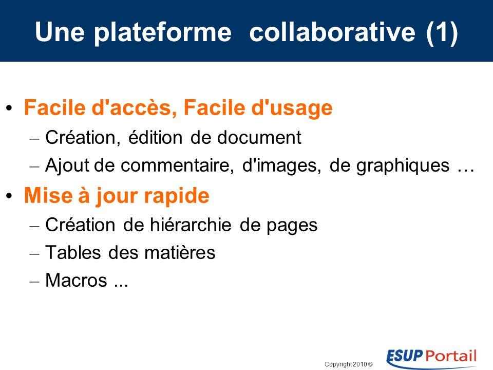 Copyright 2010 © ESUP-Days9 -- 5 février 2010 Paris Contact