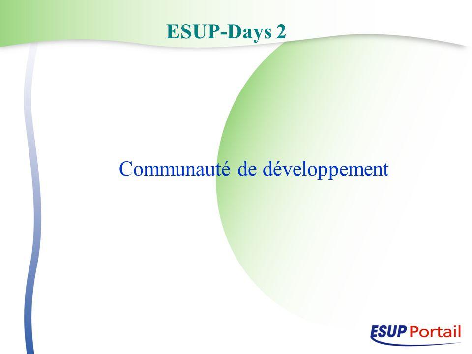 ESUP-Days 2 Communauté de développement