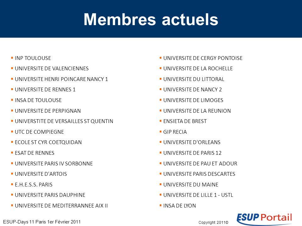 Copyright 2011© Membres actuels INP TOULOUSE UNIVERSITE DE VALENCIENNES UNIVERSITE HENRI POINCARE NANCY 1 UNIVERSITE DE RENNES 1 INSA DE TOULOUSE UNIVERSITE DE PERPIGNAN UNIVERSTITE DE VERSAILLES ST QUENTIN UTC DE COMPIEGNE ECOLE ST CYR COETQUIDAN ESAT DE RENNES UNIVERSITE PARIS IV SORBONNE UNIVERSITE D ARTOIS E.H.E.S.S.
