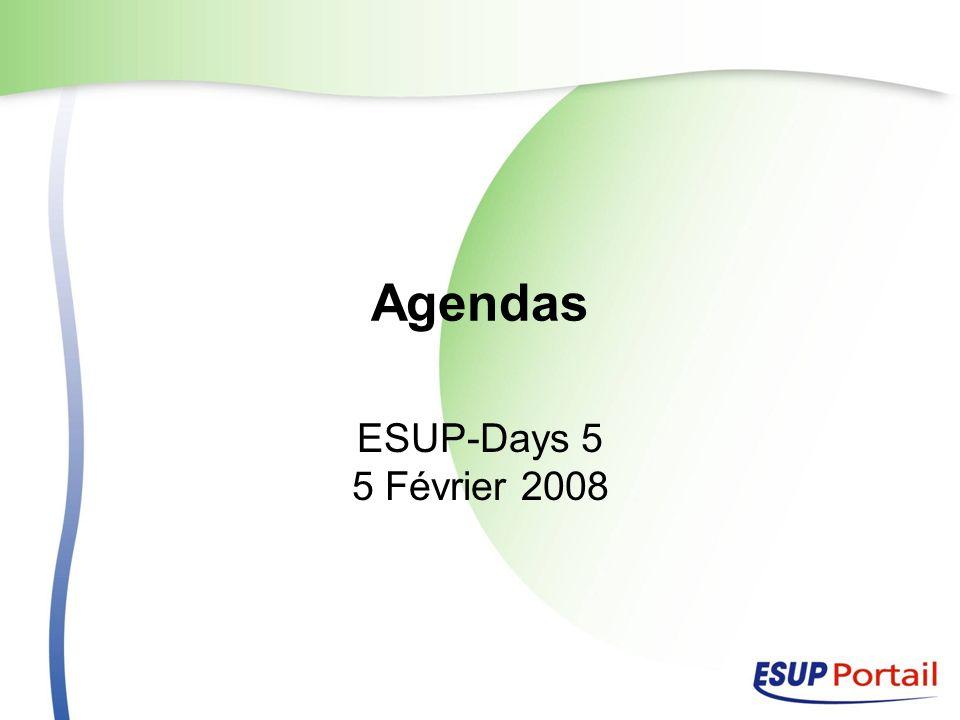 Agendas ESUP-Days 5 5 Février 2008