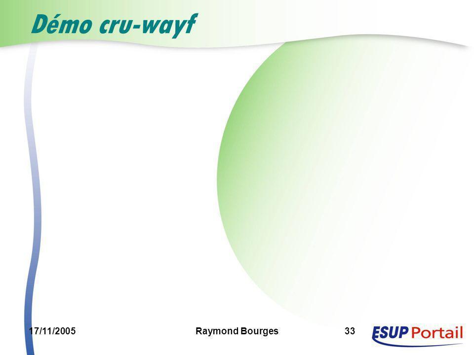 17/11/2005Raymond Bourges33 Démo cru-wayf