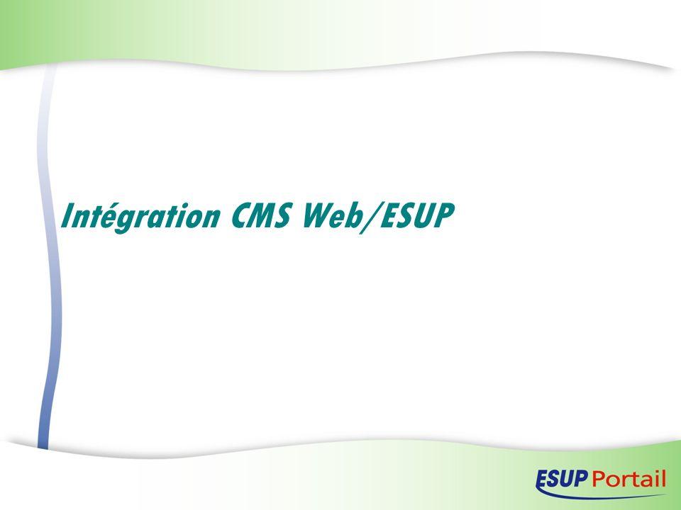 Intégration CMS Web/ESUP