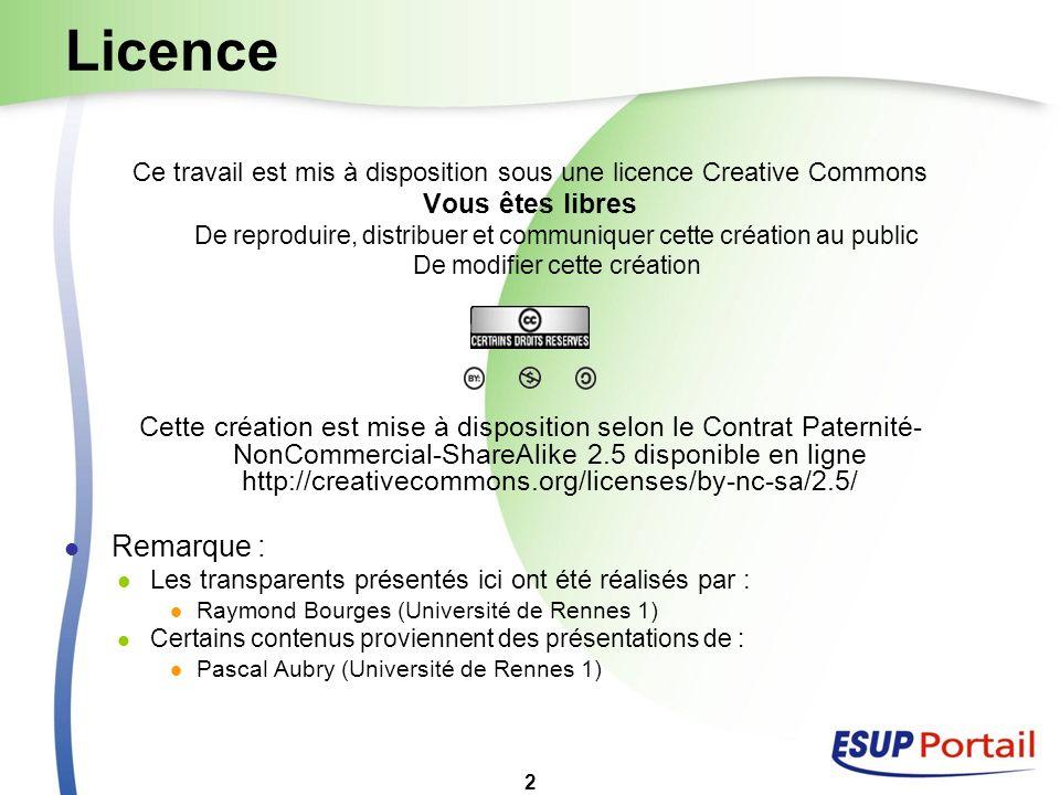 2 Licence Ce travail est mis à disposition sous une licence Creative Commons Vous êtes libres De reproduire, distribuer et communiquer cette création
