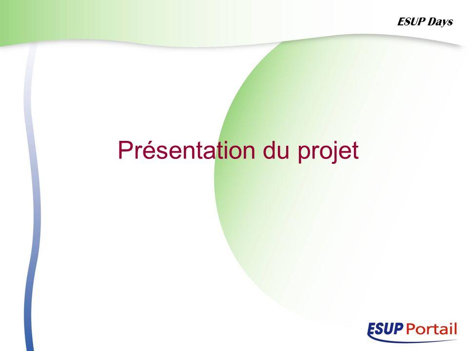 Présentation du projet ESUP Days