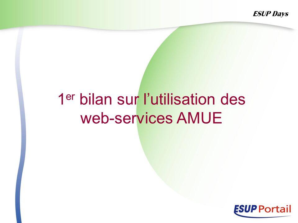 1 er bilan sur lutilisation des web-services AMUE ESUP Days
