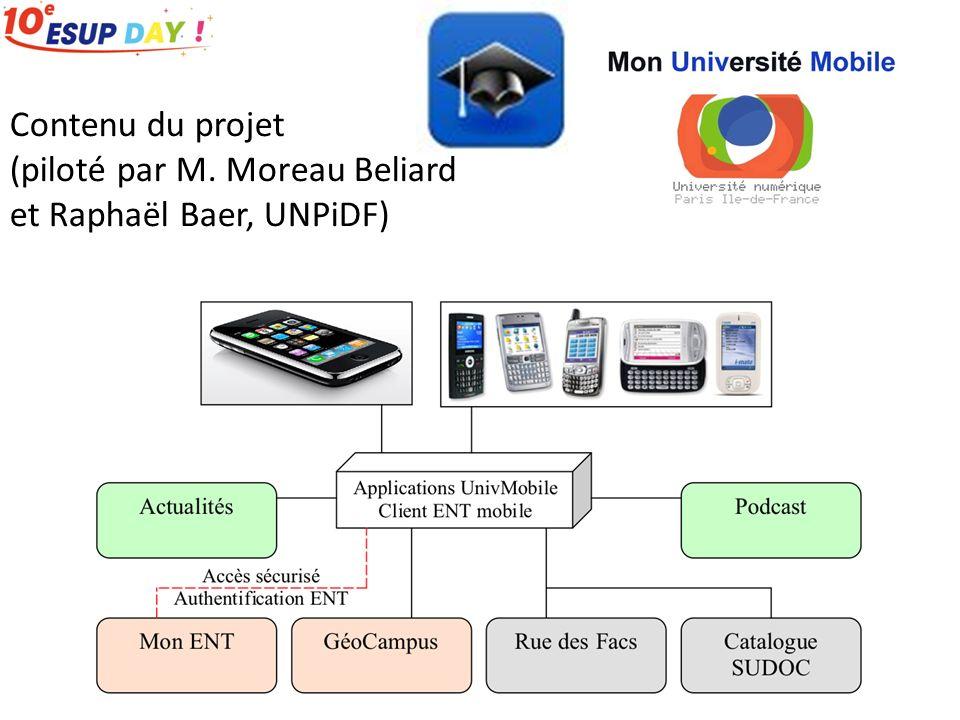 Contenu du projet (piloté par M. Moreau Beliard et Raphaël Baer, UNPiDF)