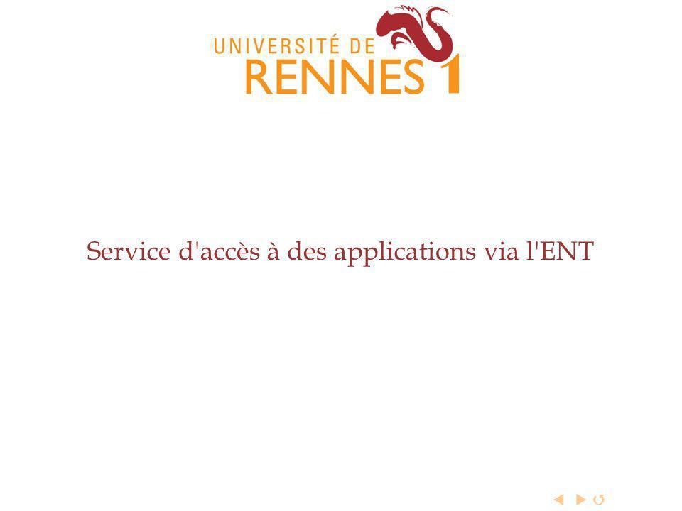 Service d accès à des applications via l ENT