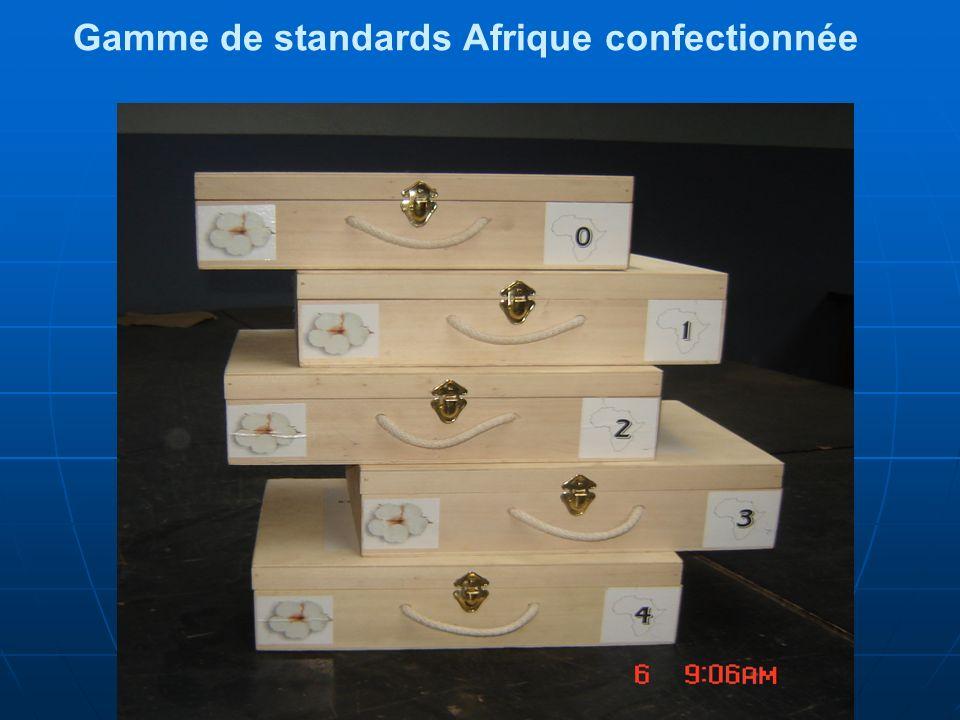 Gamme de standards Afrique confectionnée