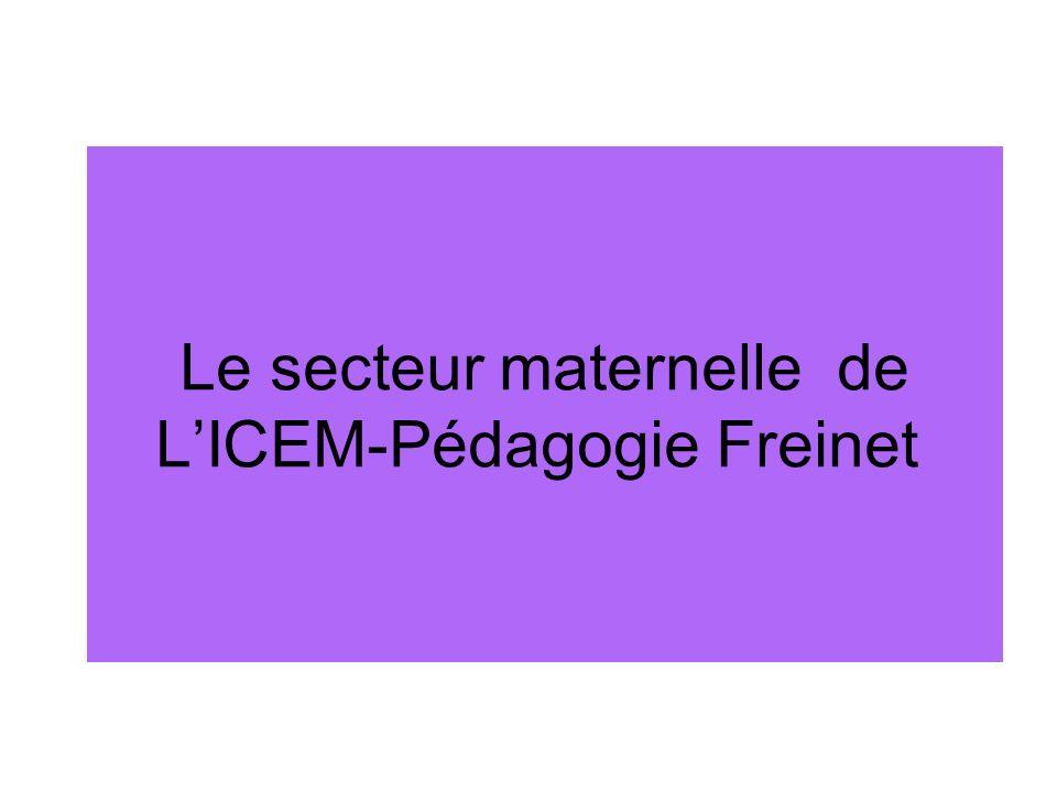 Le secteur maternelle de LICEM-Pédagogie Freinet
