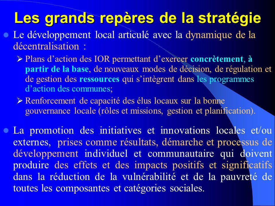 Stratégies dintervention du PPILDA La stratégie fondamentale du PPILDA consistera à appuyer la conception, le développement et lopérationalisation dun