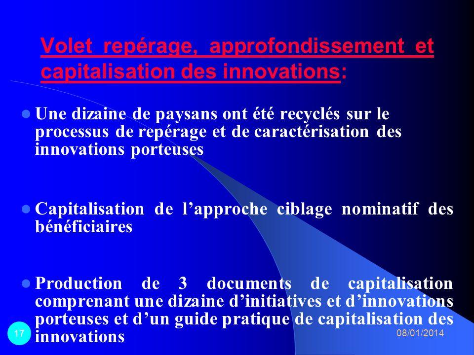 Volet diffusion des technologies dintensification de la production agricole: – 34 Parcelles dInitiatives Paysannes (PIP) en production agricole, anima