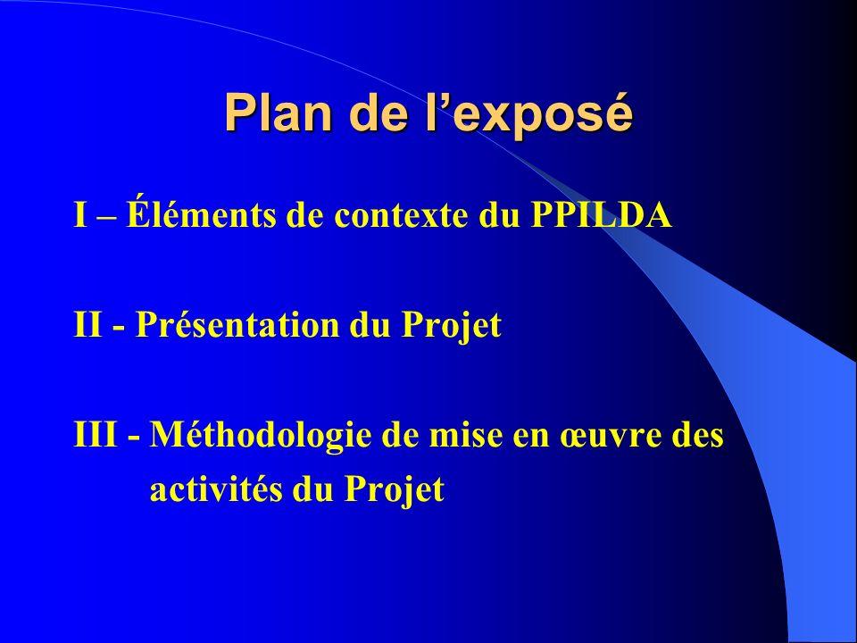 Projet de Promotion de lInitiative Locale pour le Développement à Aguié (PPILDA): Présentation du Projet et ses Méthodes dintervention ATELIER DE PART