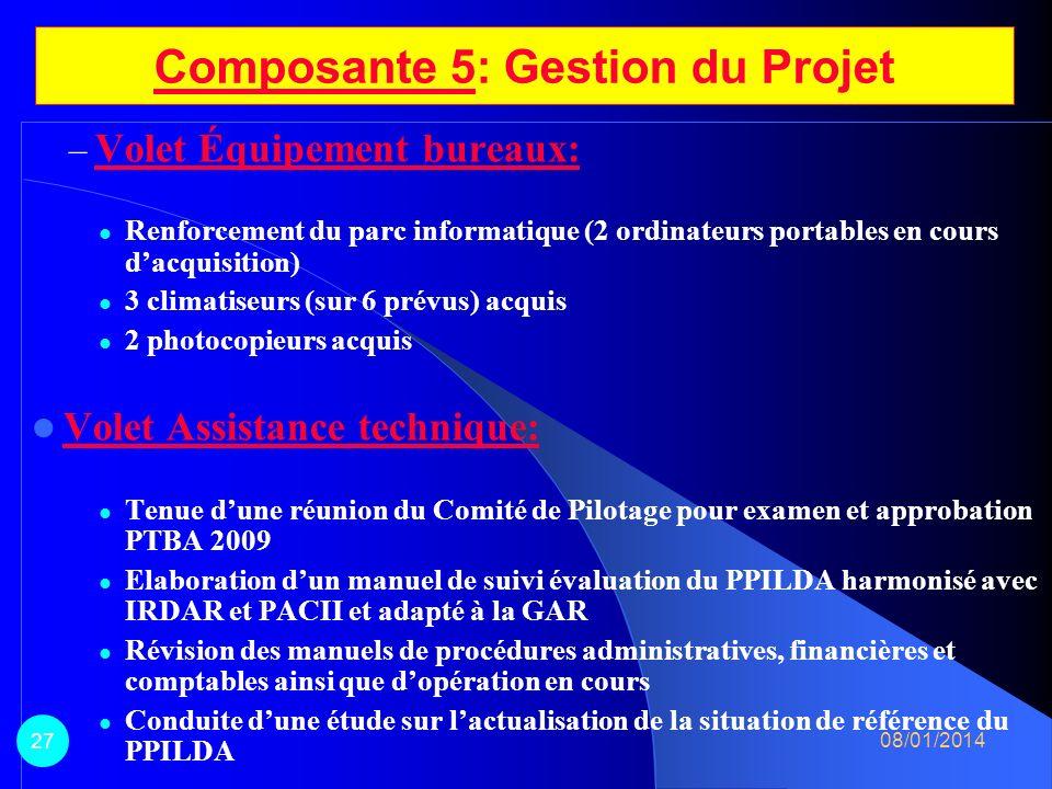 Volet Construction et équipement et opérationnalisation radio: – Opérationnalisation de la radio communautaire dAguié: matériel technique acquis et pe